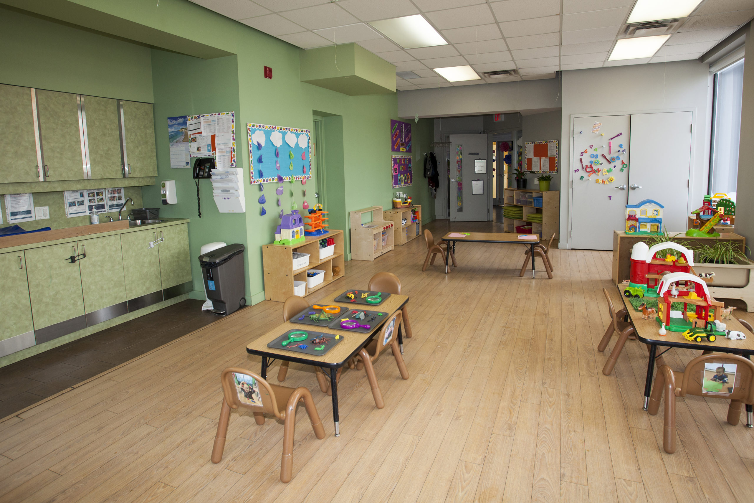 toddler classroom with tables